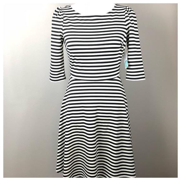 b40c824246f Pixley Katie Striped Fit and Flare Dress Stitchfix. NWT